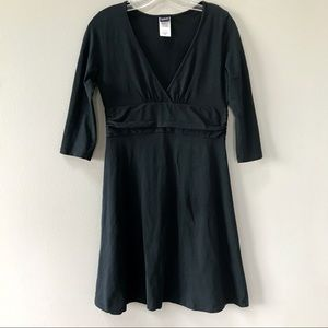 Patagonia Organic Cotton 3/4 Sleeve Dress Black M